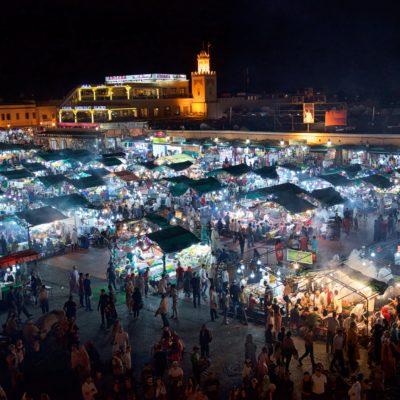 Jemaa el-Fnaa night scene