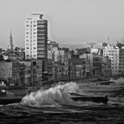 Waves on the Malecon Havana